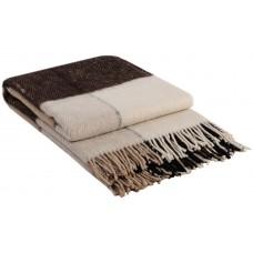 Плед VLADI Эльф бело-бежево-коричневый-1 170х210 см (220171)