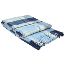 Плед VLADI Метро бело-голубо-синий-1 140х200 см (220371)