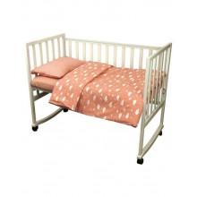 Комплект детского постельного белья РУНО 60х120 (932.02_(Рожевий) хмарка)