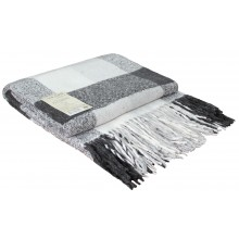 Плед VLADI Палермо бело-светло серый-серый 140х200 см (220376)