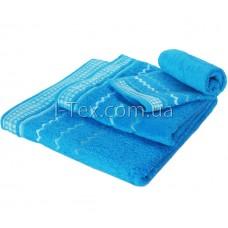 Комплект махровых полотенец УтТекс 3шт  30х50, 50х100, 70х140 см (22220)