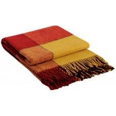 Плед VLADI Эльф желто-красно-бордовый-1 140х200 см (220144)