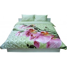 Комплект постельного белья РУНО сатин евро 205х225 (845.137К_20-1316 green)