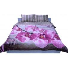 Комплект постельного белья РУНО сатин евро 205х225 (845.137К_20-1315Fuchsia)