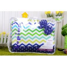 Комплект детского постельного белья Bepino Зигзаги цветные и якорьки 95х145 (ПЛ003)