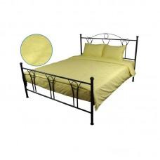 Комплект постельного белья РУНО сатин жаккард 205х225 (845.137ЖК_Жовтий)