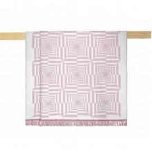 Плед Arya Nyla хлопковый рельефный 150х200 см розовый (TR1006321)