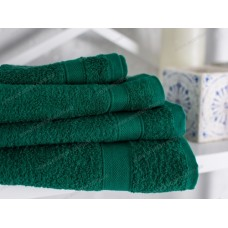 Полотенце махровое Ecotton гладкокрашеное 40х70 (dark green)