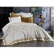 Комплект постельного белья Arya Evelina Adel с кружевом евро 200х220см (TR1006877)