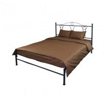 Комплект постельного белья РУНО евро сатин 220х240 (845.50ДУ_Brown)