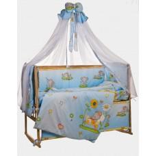 Комплект детского постельного белья Bepino Слоник  95х145 (02-СЛ-Г-580-Т голубой)