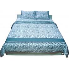 Комплект постельного белья РУНО сатин полуторный 143х215 (1.137К_Блакитний)