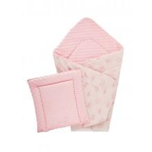 Конверт DOTINEM Minky плюшевый розовый 75х100 см с подушечкой 35х35 см (215610-1)