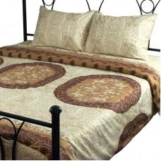 Комплект постельного белья РУНО сатин двуспальный 200х220 (655.137К_3589 Front beige)