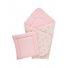 Конверт DOTINEM Minky плюшевый розовый 75х85 см с подушечкой 35х35 см (215608-1)