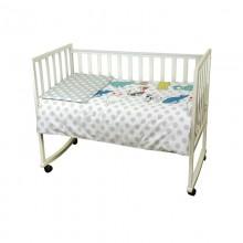 Комплект детского постельного белья РУНО сатин 60х120 (932.137Саt)