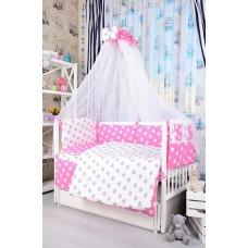 Комплект детского постельного белья Bepino Звёзды бело-розовые 95х145 (ПЛ031)