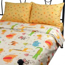 Комплект постельного белья РУНО сатин евро 205х225 (845.137К_Jungle)