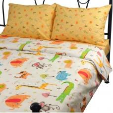 Комплект постельного белья РУНО сатин двуспальный 175х215 (655.137К_Jungle)
