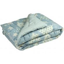 Одеяло Руно овечья шерсть молочное 172х205 см (316.116ШУ_Blue star)