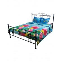 Комплект постельного белья РУНО микрофибра двуспальный 175х215 (655.52Тюльпани)