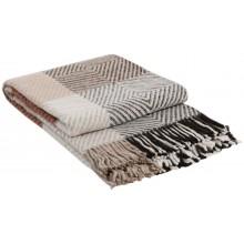 Плед VLADI Скиф бело-бежево-терракотово-коричневый-1 140х200 см (220237)
