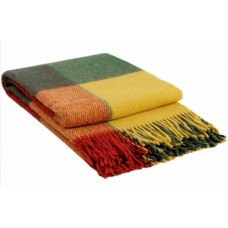 Плед VLADI Эльф ярко-желтый-красный-зеленый-1 170х210 (220440)