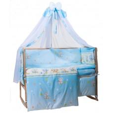 Комплект детского постельного белья Bepino Улыбка  95х145 (01-УЛ -Г-590-Т голубой)