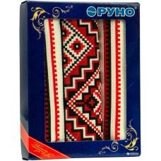 Вафельное полотенце кухонное РУНО 45х80 (202.15_Орнамент червоний)