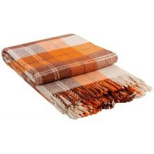 Плед VLADI Эльф бело-оранжево-терракотовый-2 200х220 см (220219)