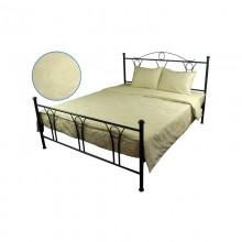 Комплект постельного белья РУНО сатин жаккард евро 220х240 (845.137ЖК_Молочний-2)