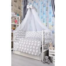 Комплект детского постельного белья Bepino Совушки и серые звёздочки 95х145 (ПЛ029)