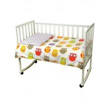 Комплект детского постельного белья РУНО 60х120 (932.137Сови)