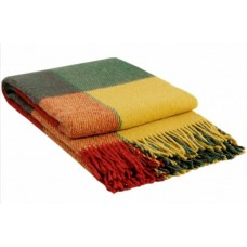 Плед VLADI Эльф ярко-желтый-красный-зеленый-1 140х200 (220433)
