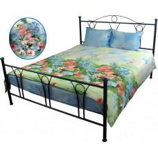 Комплект постельного белья РУНО сатин двуспальный 175х215 (655.137Summer flowers)