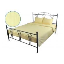 Комплект постельного белья РУНО сатин-страйп 205х225 (845.50ДУ_Beige)