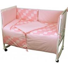 Комплект детского постельного белья РУНО 60х120 (977Клітинка_рожевий)