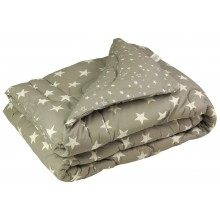 Одеяло Руно овечья шерсть молочное 172х205 см (316.02ШУ_Grey Star)