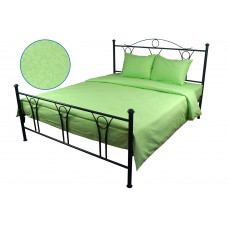 Комплект постельного белья РУНО сатин жаккард 205х225 (845.137ЖК_Салатовий)