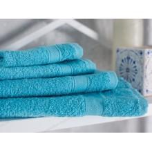 Полотенце махровое Ecotton гладкокрашеное 30х30 (sky blue)
