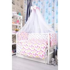 Комплект детского постельного белья Bepino Жирафики и звёзды на белом 95х145 (ПЛ039)