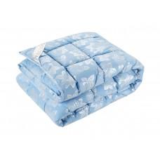 Одеяло DOTINEM ROSALIE искусственный лебяжий пух 145х210 см голубое (211076-2)