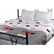 Комплект постельного белья РУНО сатин полуторный 143х215 (1.137К_My cat)