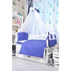Комплект детского постельного белья Bepino Якорьки и сердечки синие  95х145 (ПЛ006)