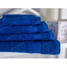 Полотенце махровое Ecotton гладкокрашеное 40х70 (royal blue)