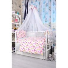 Комплект детского постельного белья Bepino Зигзаги серые и жирафики 95х145 (ПЛ035)