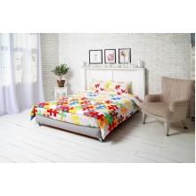 Комплект постельного белья РУНО бязь полуторный 143х215 (1.116_Пазли)