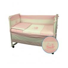 Защитные бортики в кроватку Руно 39х360 (922Кошенята_Рожевий)