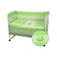Защитные бортики в кроватку Руно 39х360 (922Кошенята_Салатовий)