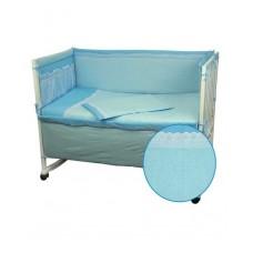 Защитные бортики в кроватку Руно 39х360 (922ВГУ_Блакитний)
